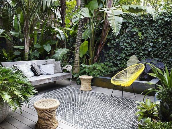 décoration extérieure tropicale, décoration intérieure, déco intérieure